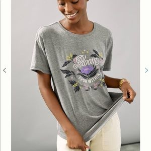 Anthropologie Bloom From Within Graphic Tee S